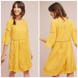 NEW ANTHROPOLOGIE SIZE XS TUNIC LACED DRESS EMBROI